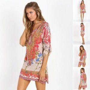 Tolani Chloe Silk Tunic Dress
